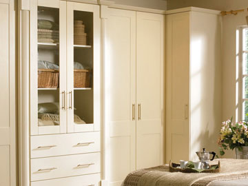 Fitted bedroom shown in Goscote Cologne Ivory Hornchurch