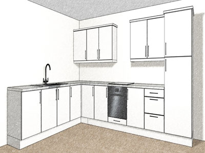 12 kitchen unit layout