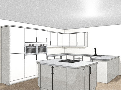22 kitchen unit layout