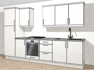 8 kitchen unit layout w/o ext
