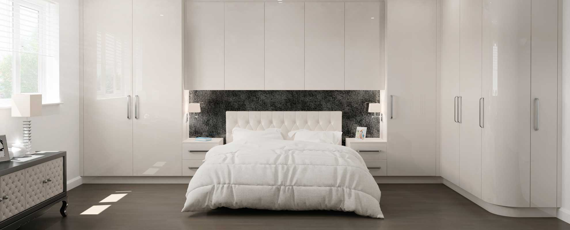 Glacier bedroom in High Gloss Cashmere
