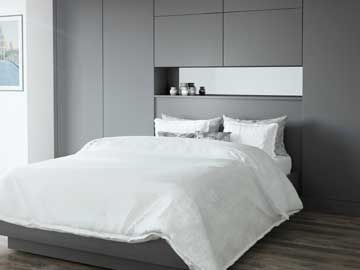 Glacier Fitted Bedroom in Smooth Matt Graphite